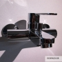 PAFFONI BASIN MIXER WITH BLUE SHOWER