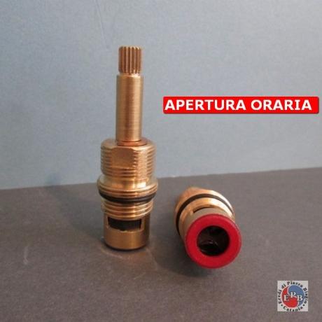 VITONE CERAMICO 90° APERTURA SENSO ORARIO C/FILETTO SUPERIORE MM21/24 ASTA BROCCIA 9X18 PER SERIE BELLE EPOQUE CESAME