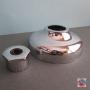 PUCCI ROSONE PER PULSANTE ESTERNO PER CASSETTA 6/8 LT IN PLASTICA CROMATO ART 9033