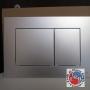 TECE NEW PLACCA DOPPIA CROMO SATINATO 9240402