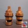 ZUCCHETTI VITONE CERAMICO R9754P.9500 1/2 DX+SX 90°C/FILETTO SUPERIORE LA COPPIA