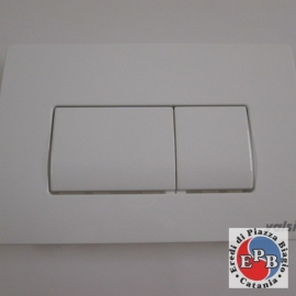 VALSIR PLACCA DOPPIO TASTO TROPEA 3 BIANCA DOPPIO SCARICO ART.VS0871301