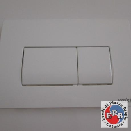 VALSIR PLATE DOUBLE BUTTON 3 TROPEA WHITE DUAL EXHAUST ART.VS0871301
