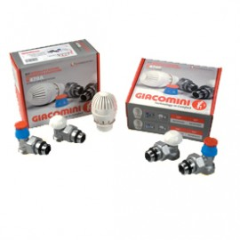 GIACOMINI KIT RIQUALIFICATION ENERGY RADIATOR WITH VALVE DETECTOR AND THERMOSTATIC HEAD R470A