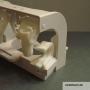 GEBERIT RICAMBIO SUPPORTO DUE TASTI ART. 240511 PER CASSETTA SPESSORE CM 8